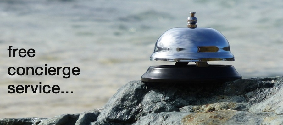 Concierge bell on Porthmeor Beach.