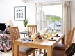 Luxury self catering apartment cornwall with views of the Island whilst dining in Godrevy.