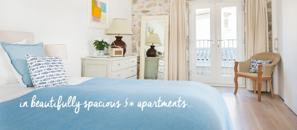 St Ives accommodation, beautifully spacious 5* apartments