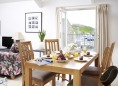 Godrevy dining area looks towards the Island in St Ives, Cornwall.
